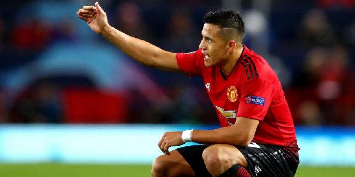 """La """"furiosa"""" reacción de Alexis Sánchez en camarín del United tras perder ante el City en el clásico"""