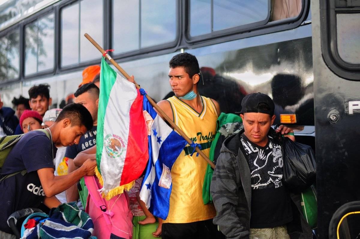 Centroamericanos de la Caravana Migrante continúan su camino por los estados del norte del país. Foto: Cuartoscuro