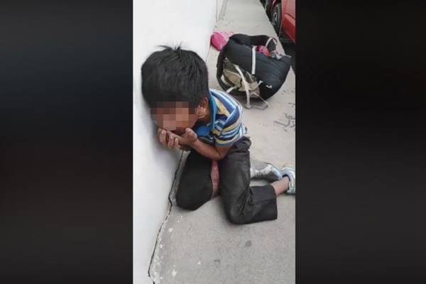 Niño golpeado en Huehuetenango