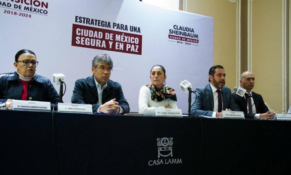 La jefa de gobierno electa presentó su estrategia de seguridad para la CDMX Foto: Cuartoscuro