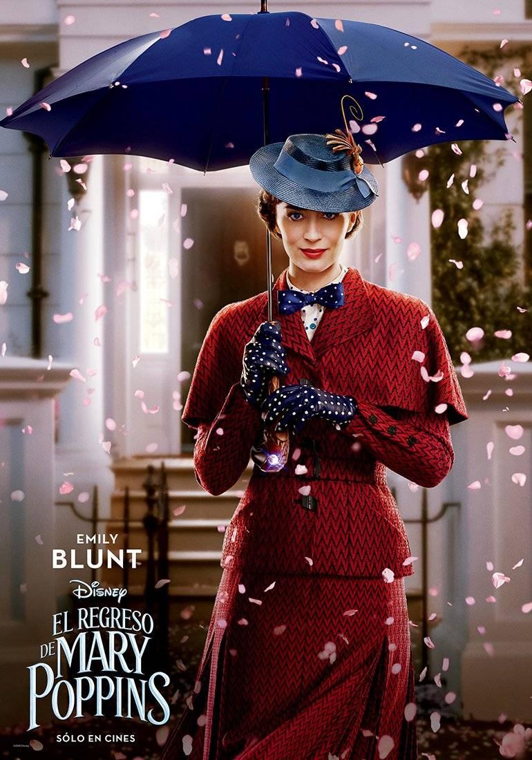 MARY POPPINS (Emily Blunt) es la niñera prácticamente perfecta cuyas habilidades mágicas y singulares le permiten convertir cualquier tarea rutinaria en una aventura fantástica. Disney