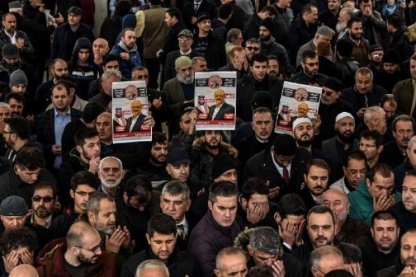 Funeral simbólico de Khashoggi en Turquía.