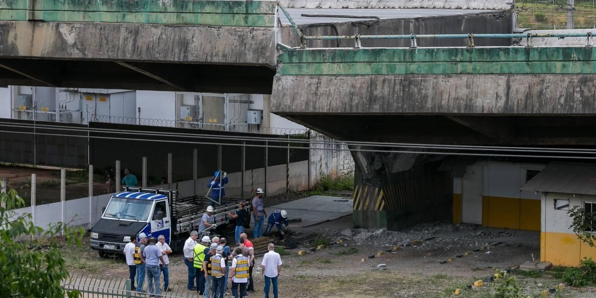 DER encontra o projeto  de viaduto que cedeu