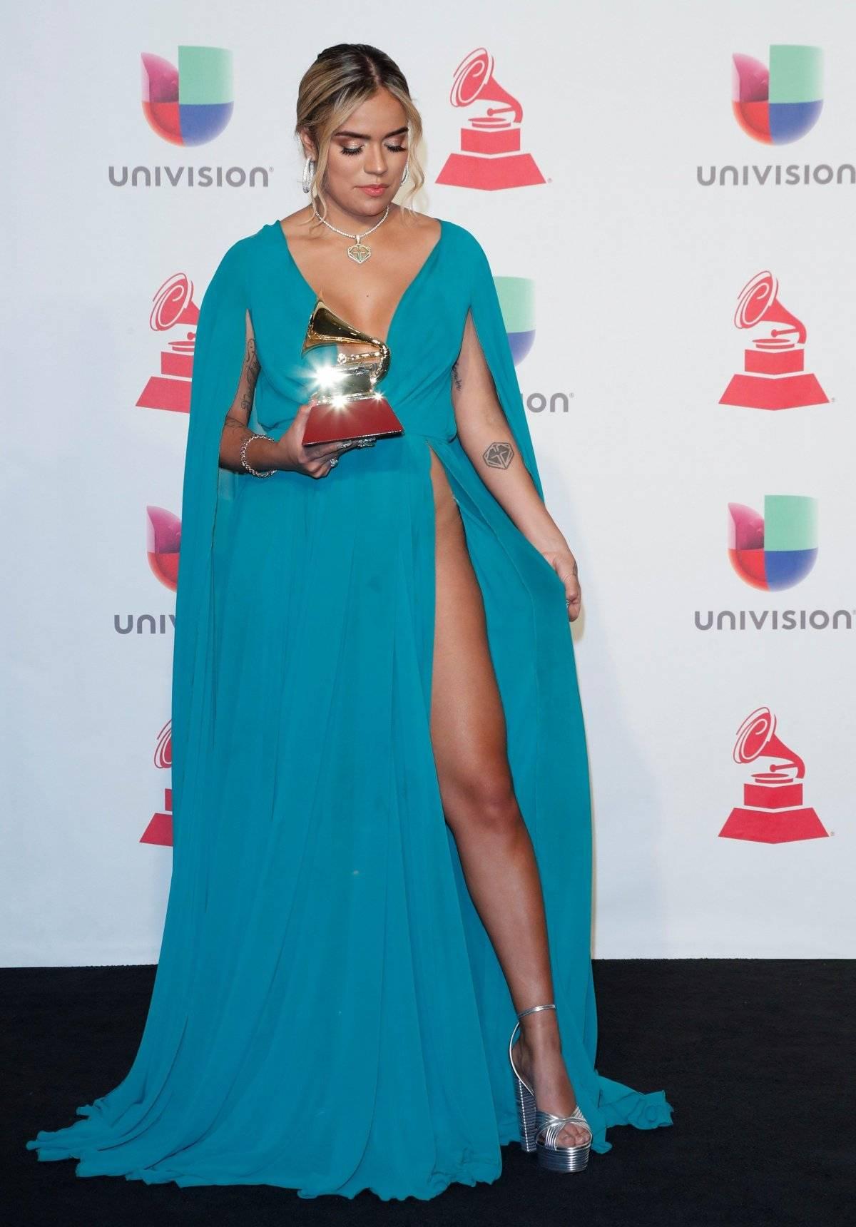 Karol G tras ganar su Grammy Latino EFE/GETTY IMAGES