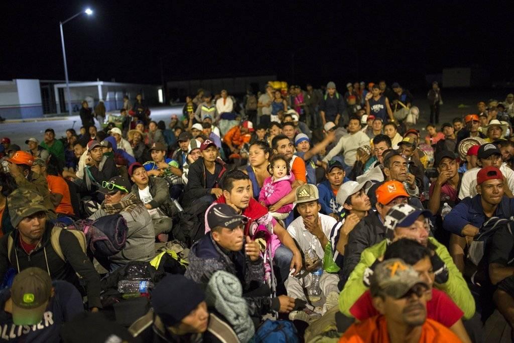 caravana de migrantes. AP
