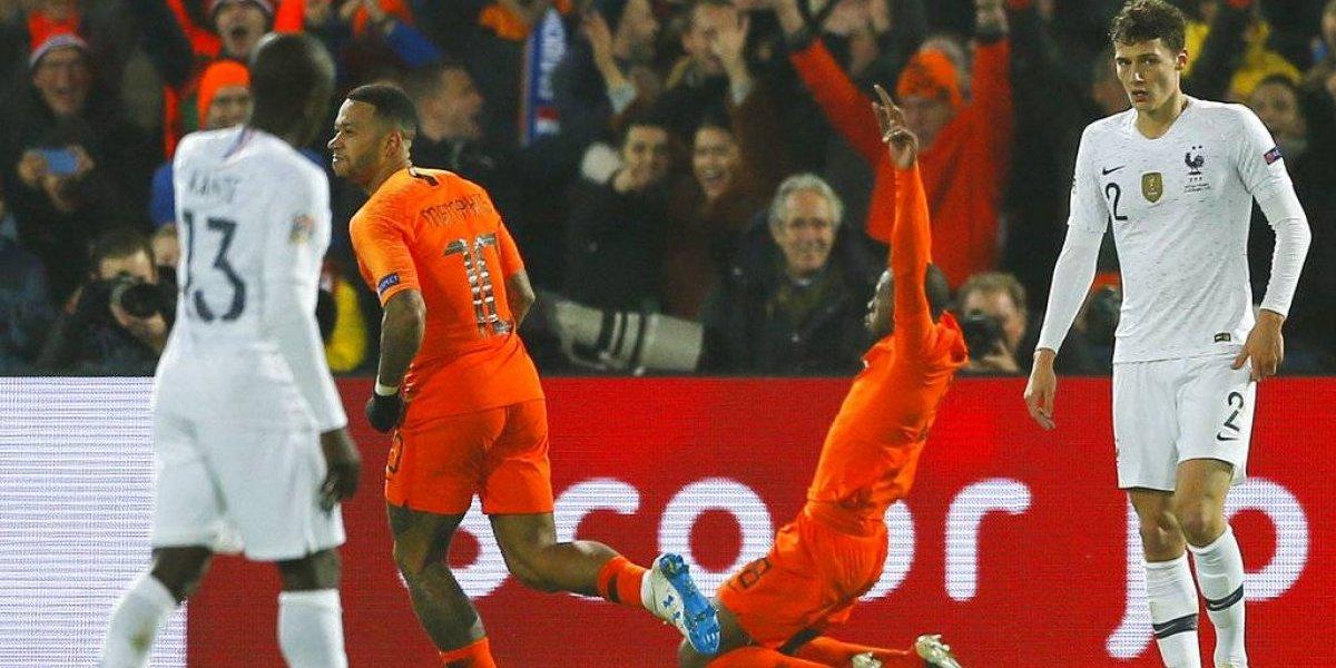 Holanda le ganó al campeón del mundo Francia y mandó al descenso a Alemania en la Nations League