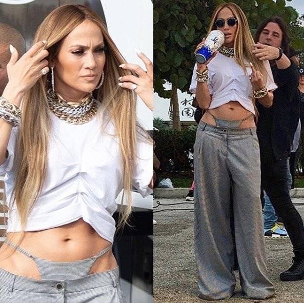 Jennifer Lopez se robó las miradas de todos por salir a la calle en tanga Instagram