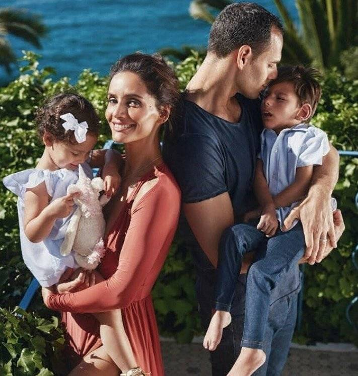 Leonor Varela junto a su familia
