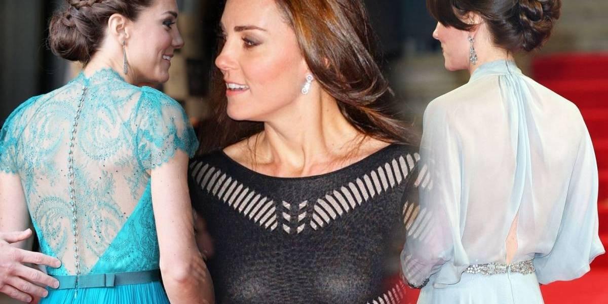 Os vestidos transparentes que colocaram Kate Middleton na mira da coroa