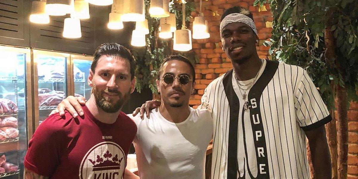 Lionel Messi y Paul Pogba visitaron un restaurante de Salt Bae