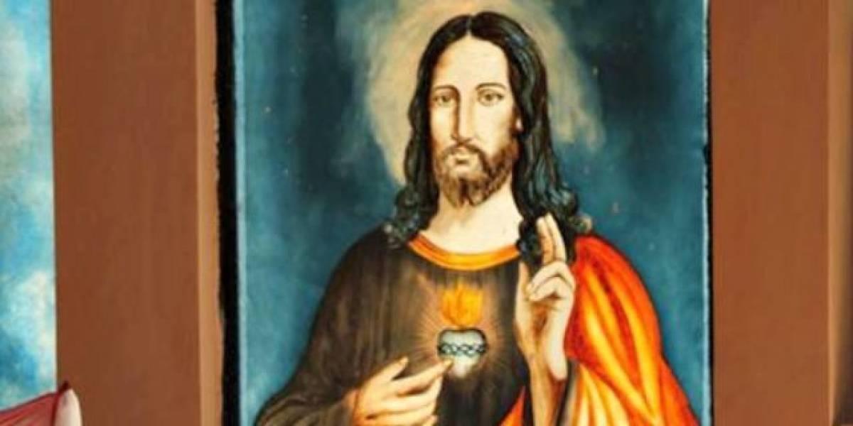 Encuentran retrato de Jesús en antigua iglesia de más de mil 500 años
