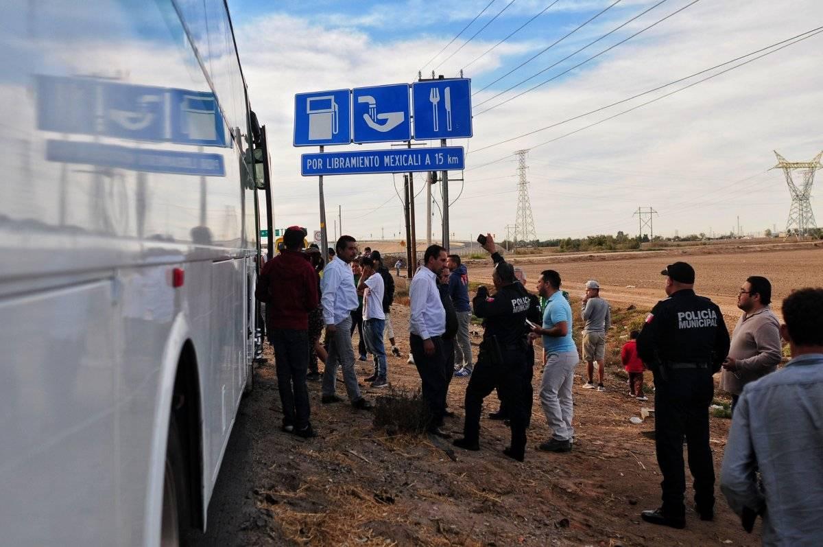 Traslado de la caravana migrante Foto: Cuartoscuro