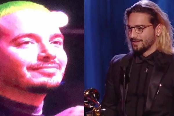 ¿Maluma se burla de J Balvin en discurso de los Latin Grammy?