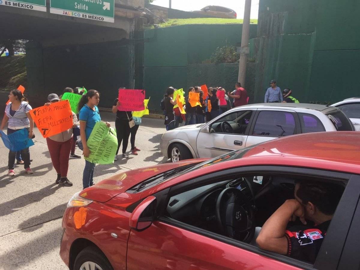 Realizan protestas contra el Ejército y la Marina en Guadalajara