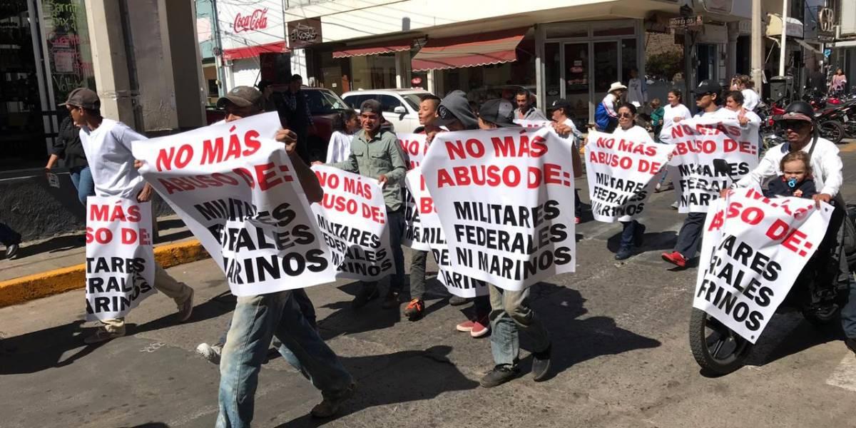 Siguen manifestaciones contra Ejército y Marina en municipios de Jalisco