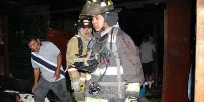 Incendio en la zona 21