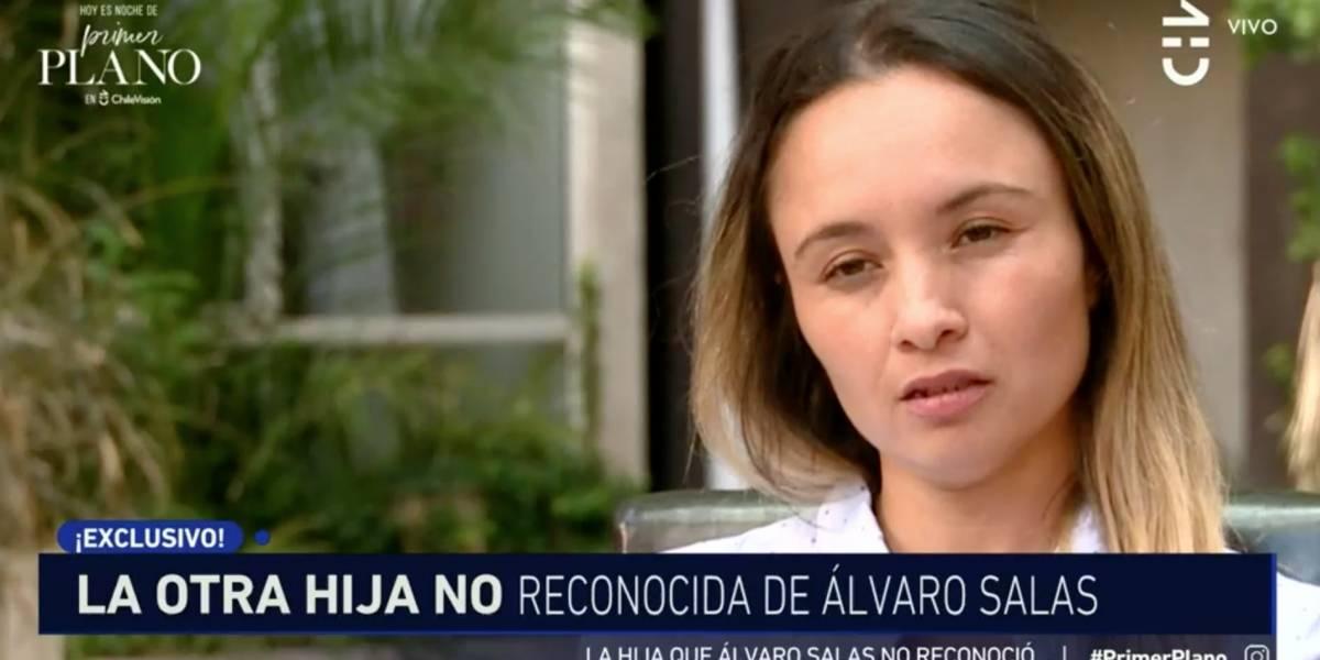 """Hija no reconocida de Álvaro Salas: """"Afectivamente no es un buen padre"""""""