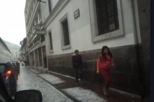 Esta es la situación de Quito tras tormenta eléctrica y granizada