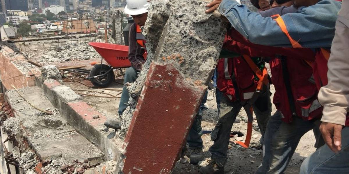 Concluye Sobse demolición del Edificio Centauro