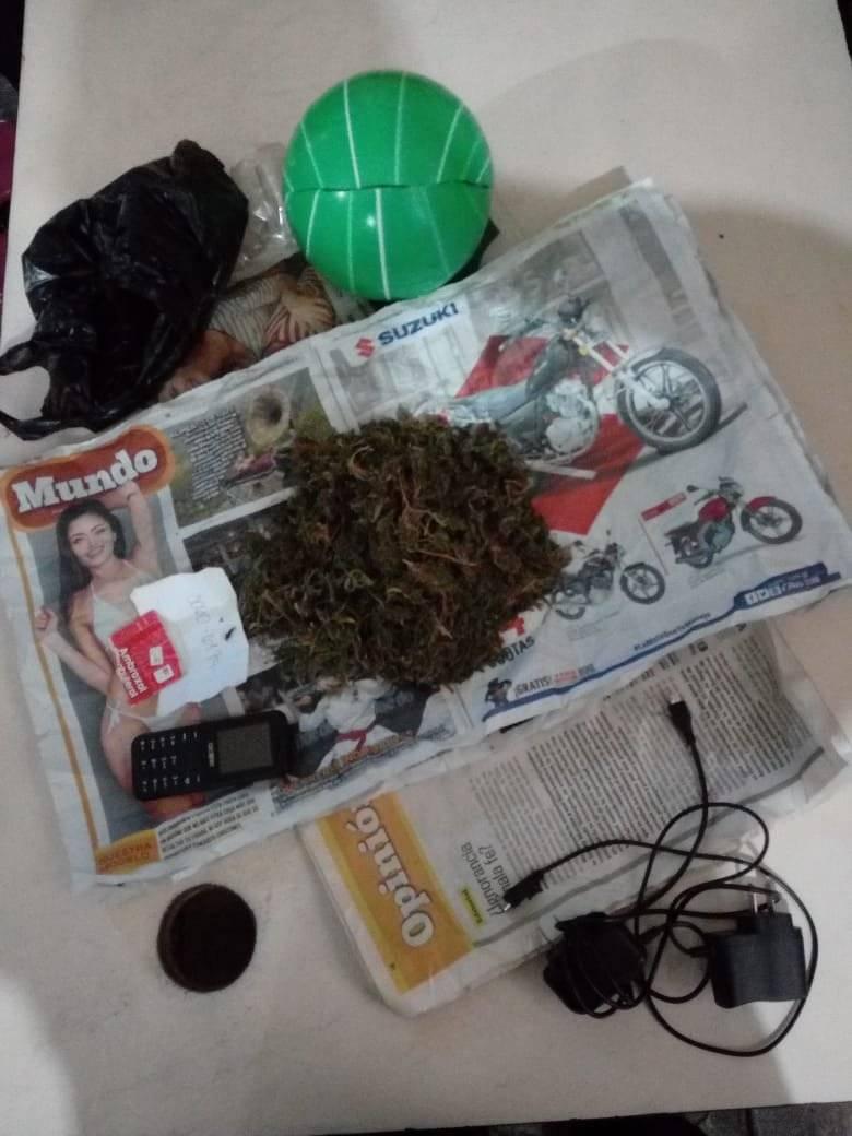 Capturado con droga en Jalapa. Foto: PNC