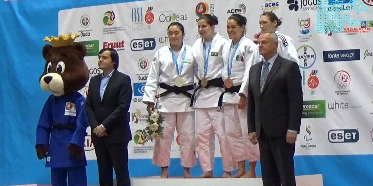 Judoca mexicana se baña de bronce en Odivelas 2018