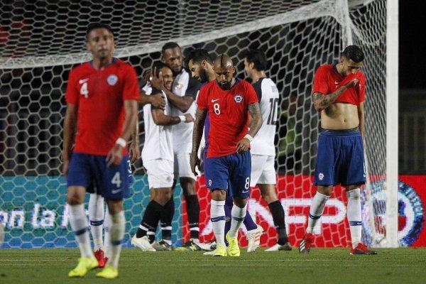 La Roja no pudo festejar en su estreno en Chile durante 2018 / imagen: Photosport