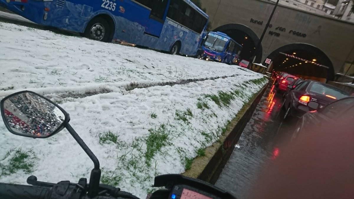Esta es la situación de Quito tras tormenta eléctrica y granizada Cortesía, Jorge Guamán