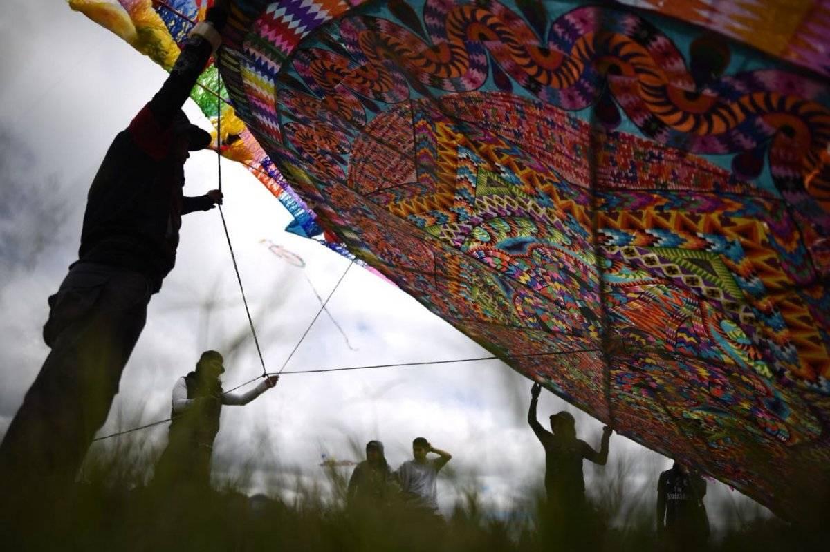 En el Día del barrilete se expusieron varios del Festival de Santiago, Sacatepéquez. Foto: Edwin Bercián