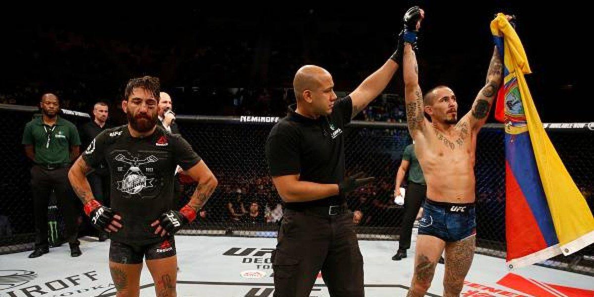 'Chito' Vera  sometió al local Guido Cannetti en la UFC Argentina