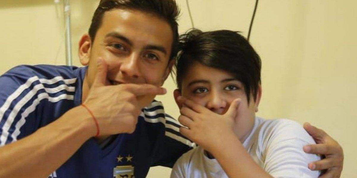Selección argentina visita a niños en hospital