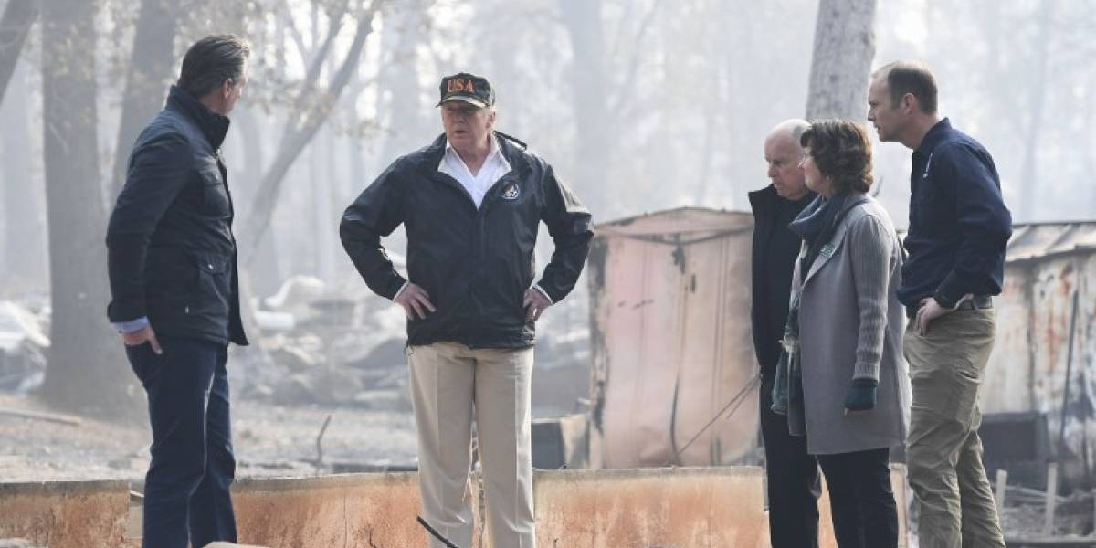 VIDEO. Trump visita ciudad devastada por el fuego en California