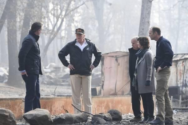 Trump visita Paradise, en California