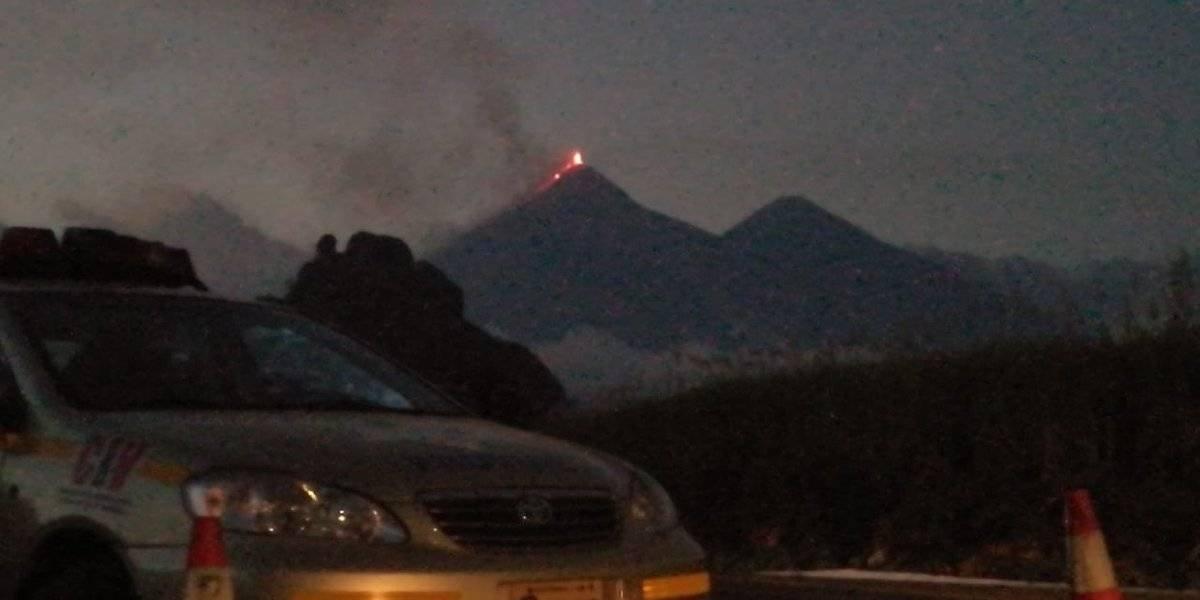 Se mantiene cierre del paso vehicular en la RN 14 por actividad volcánica