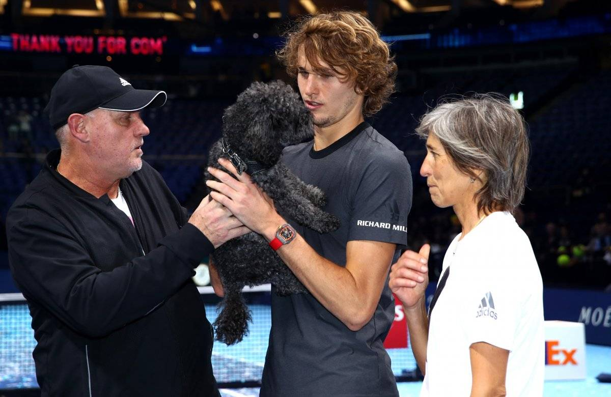 El tenista alemán fue invadido por la emoción tras proclamarse campeón