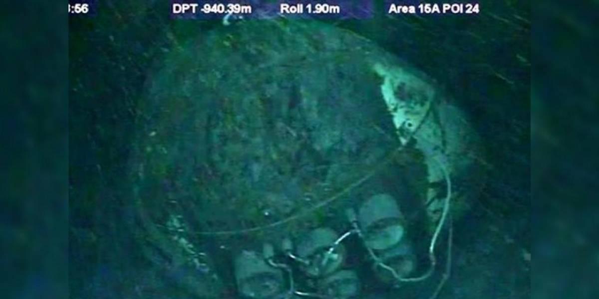 Sacarlo sería extremadamente difícil: difunden las primeras fotos del submarino ARA San Juan