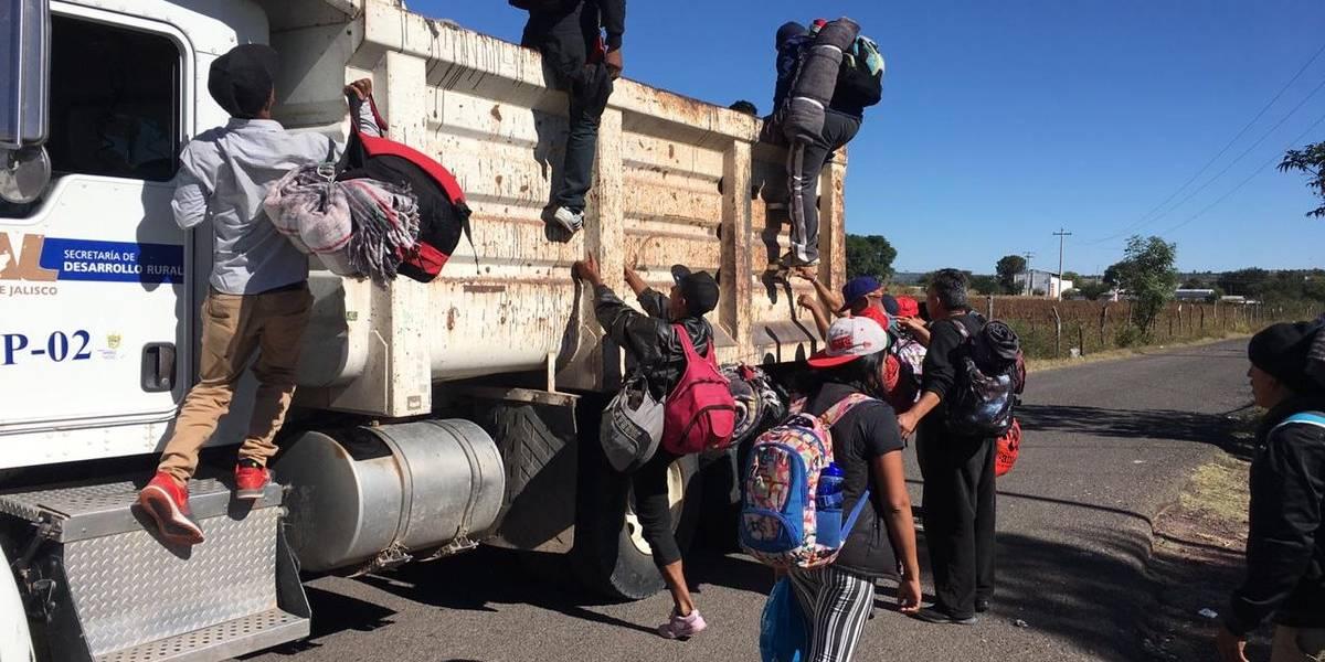 Llega a Guadalajara grueso de la segunda parte de la Caravana Migrante