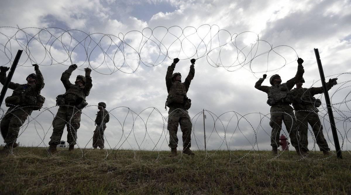 Militares en la frontera. AP