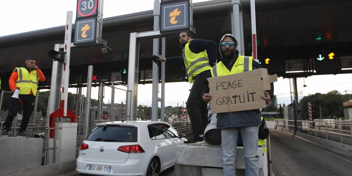 Tercer día de protestas en Francia por aumento a los combustibles