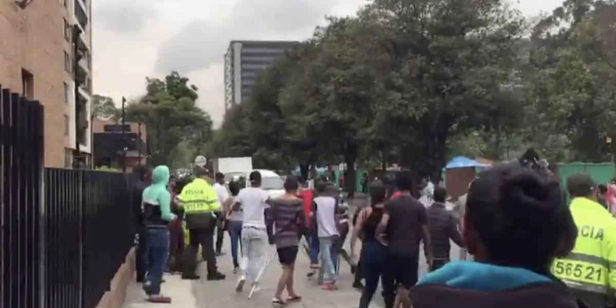 Deportarán a venezolanos que causaron disturbios en un campamento de Bogotá