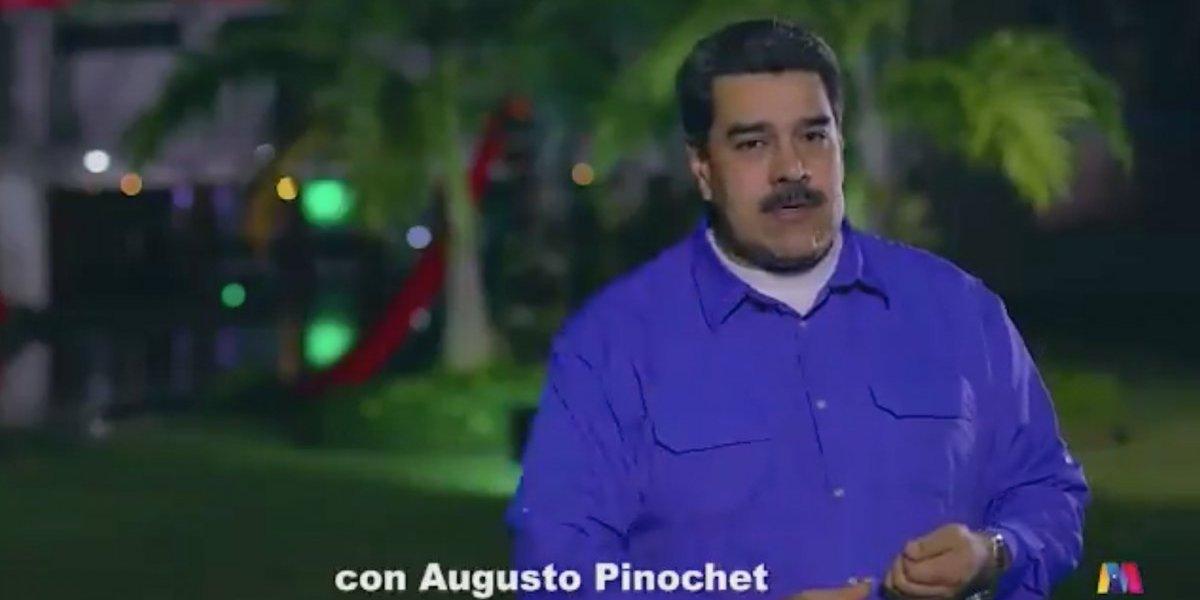 Maduro a Chile: acusó que supuesta manipulación mediática en su contra es igual a la de Pinochet con sus opositores