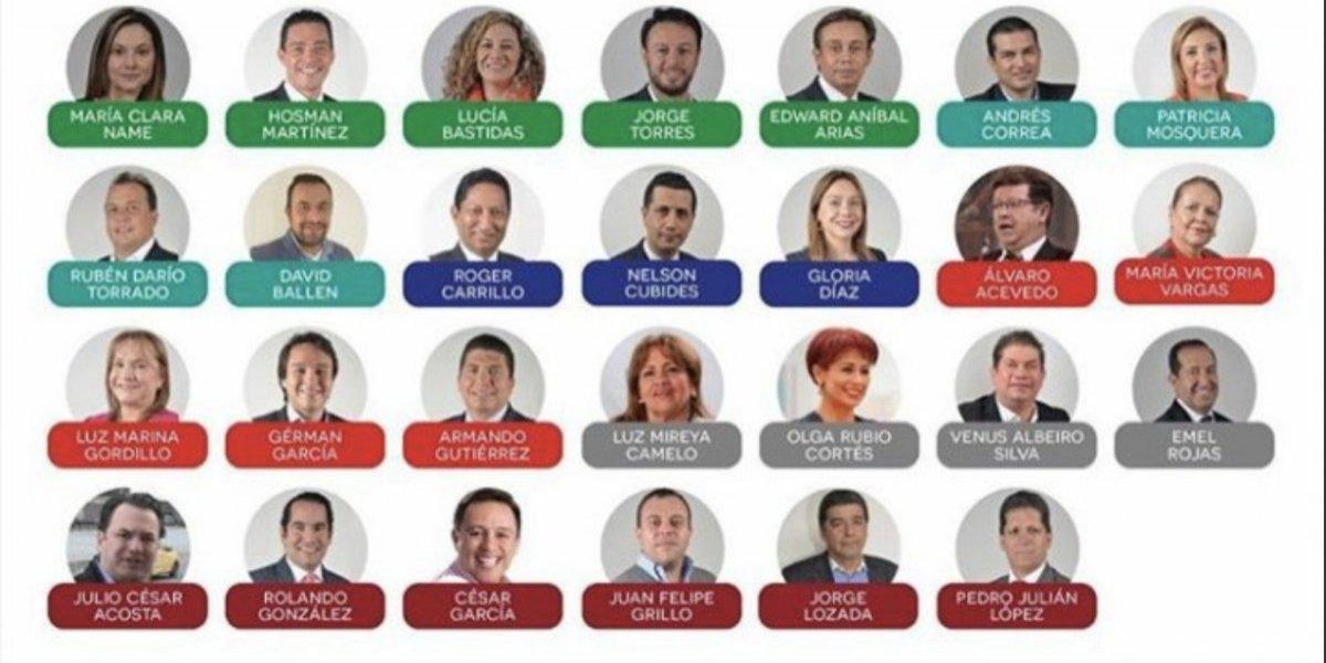 Estos fueron los concejales que votaron a favor del nuevo cobro de valorización