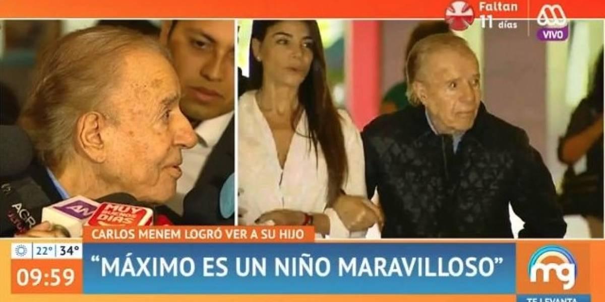 """Cecilia Bolocco y la fugaz visita de Carlos Menem a Máximo: """"Bueno, siempre ha sido así la cosa"""""""