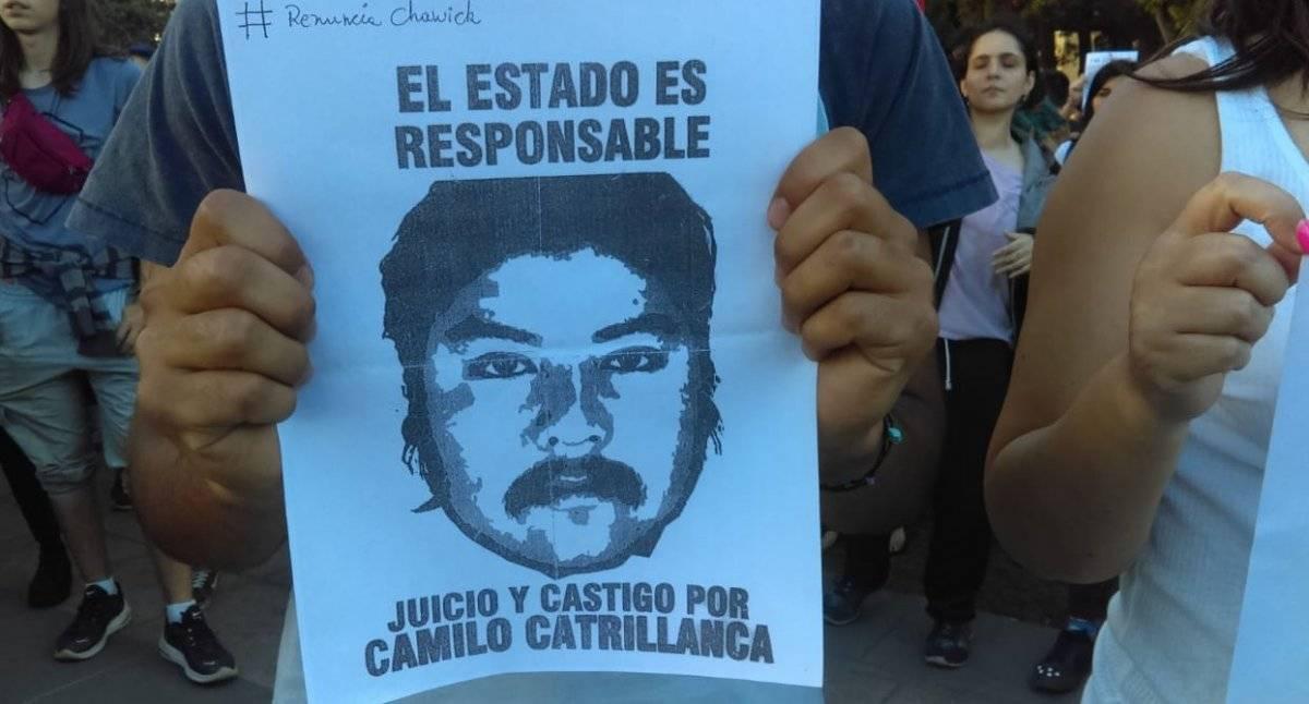 Manifestantes en La Moneda