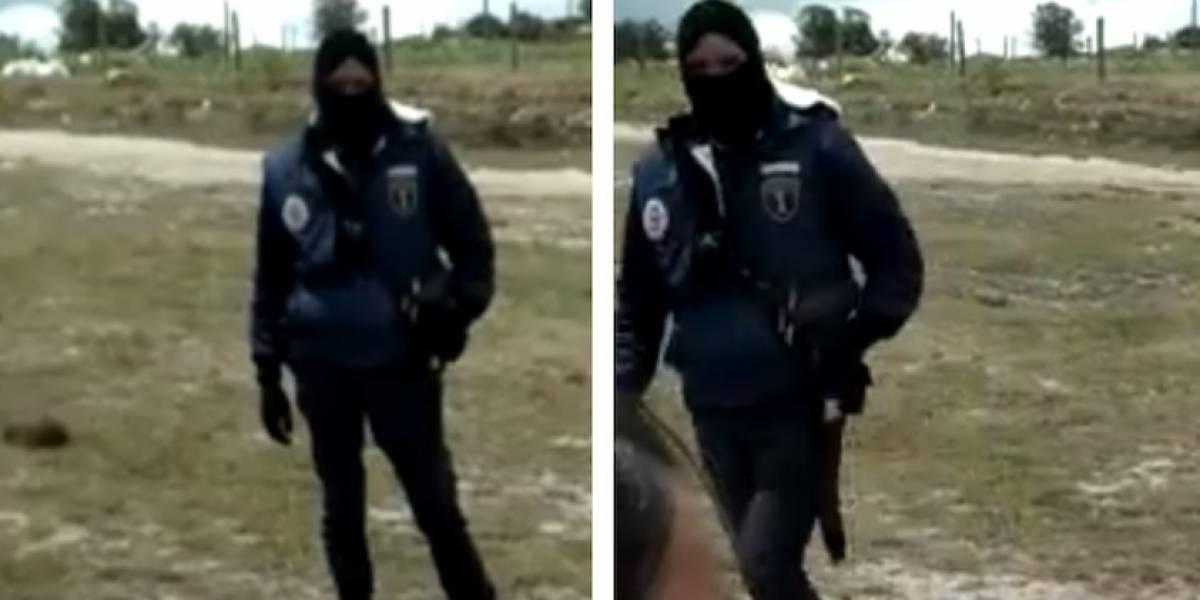 VIDEO: encapuchado irrumpe entrenamiento de escuelas de fútbol en Bogotá y los amenaza