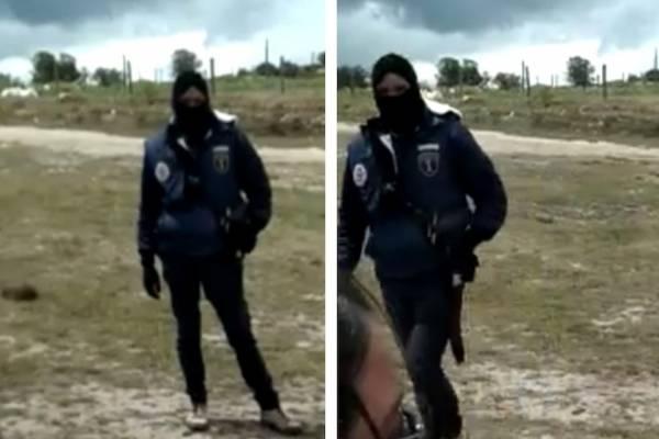 encapuchado irrumpe entrenamiento de escuelas de fútbol en Bogotá y los amenaza