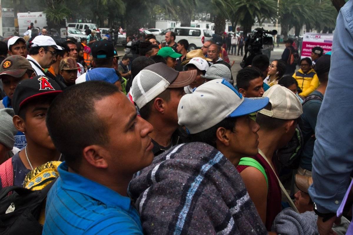"""Migrantes en el Estadio Jesús Martínez """"Palillo"""". Foto: Cuartoscuro"""