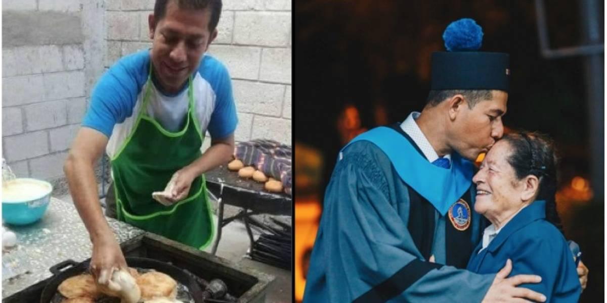 Joven que vendió tamales para graduarse logró su meta y quedó plasmado con estas imágenes