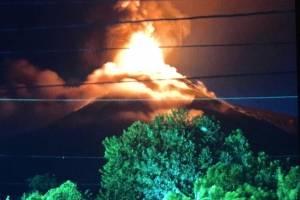 Imágenes erupción volcán de Fuego
