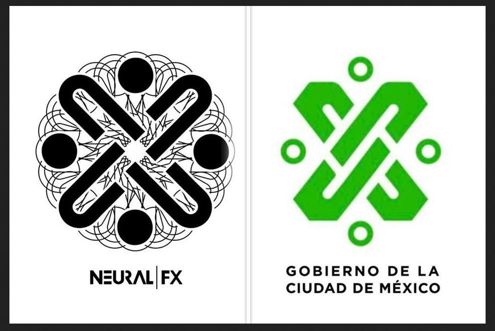 Logos de Neural FX y Gobierno CDMX