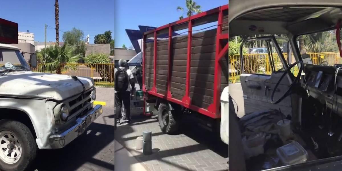 Tricolor usa camioneta destartalada en Argentina